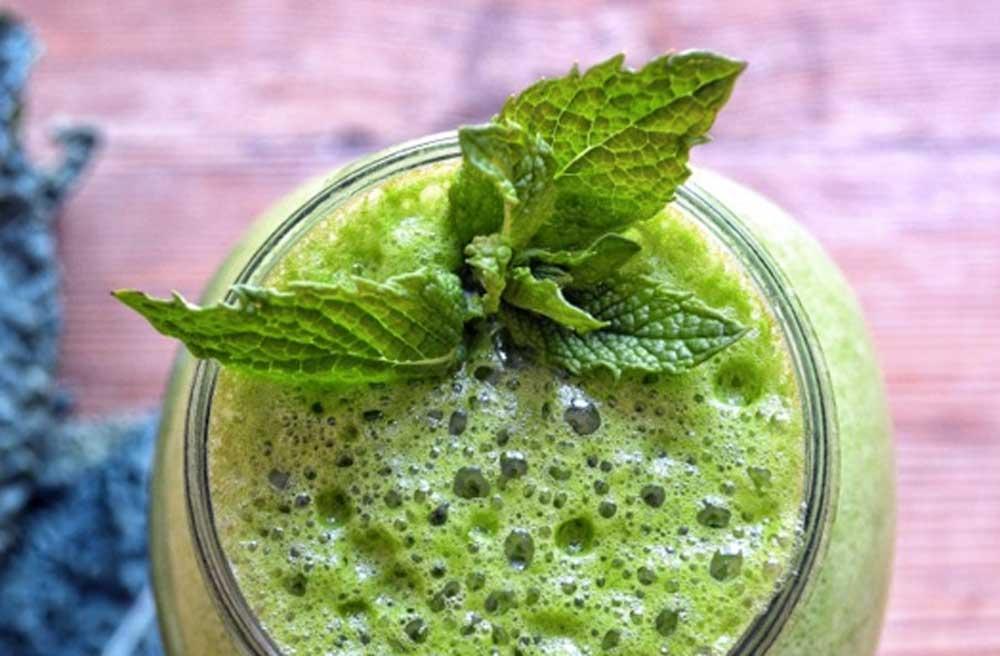 minty green goddess smoothie